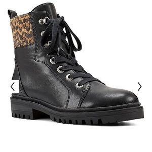 Nine West Combat Wylie 10 Black/Cheetah print